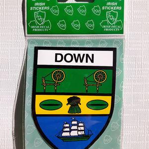Irish County Down Crest Sticker